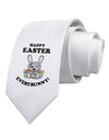 Happy Easter Everybunny Printed White Necktie