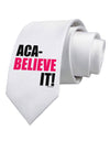 Aca Believe It Printed White Necktie