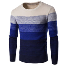 Load image into Gallery viewer, Fashion Round Collar Mens Stripe Sweater