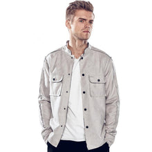Load image into Gallery viewer, Cool Lapel Collar Plain Double Packets Jacket Coat