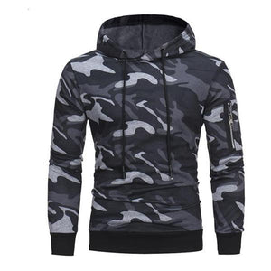 Casual Outdoor Fashion Slim Camouflage Long Sleeve Men Hoodie