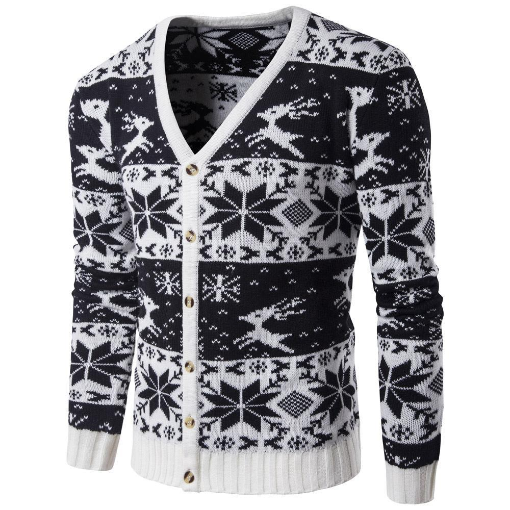 Fashion V Collar Floral Printed Button Sweater Coat