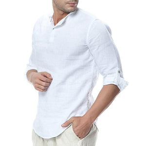 Fashin Lapel Collar Plainj Button Casual Shirt