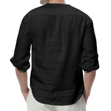 Load image into Gallery viewer, Fashin Lapel Collar Plainj Button Casual Shirt
