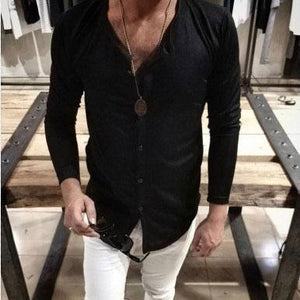 Casual Round Collar Plain Loose Thin Shirt