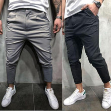 Load image into Gallery viewer, Plain Slim Fit Long Pants