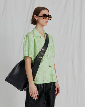 Mila Shirt Nylon Crinkle Lime