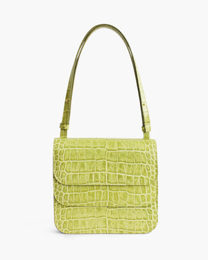 Ana Bag Leather Croc Green