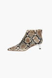 Marta Boot Leather Snake + White Heels