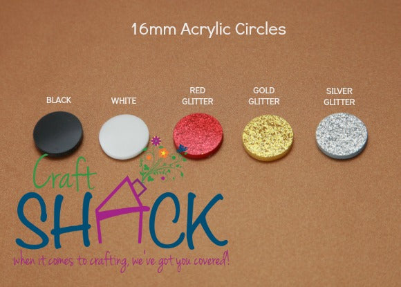 16mm Acrylic Circles CLEARANCE