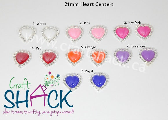 21mm Heart Shaped Centers