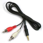 6Ft 3.5mm Stereo Plug to 2xRCA-M Cable