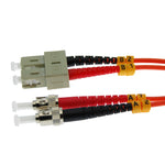 OM1 ST-SC Duplex Multimode 62.5/125 Fiber Optic Cable