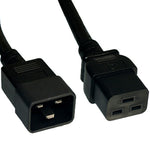 3Ft 14AWG 15A 250V Power Cord Cable (IEC320 C20 to IEC320 C19)