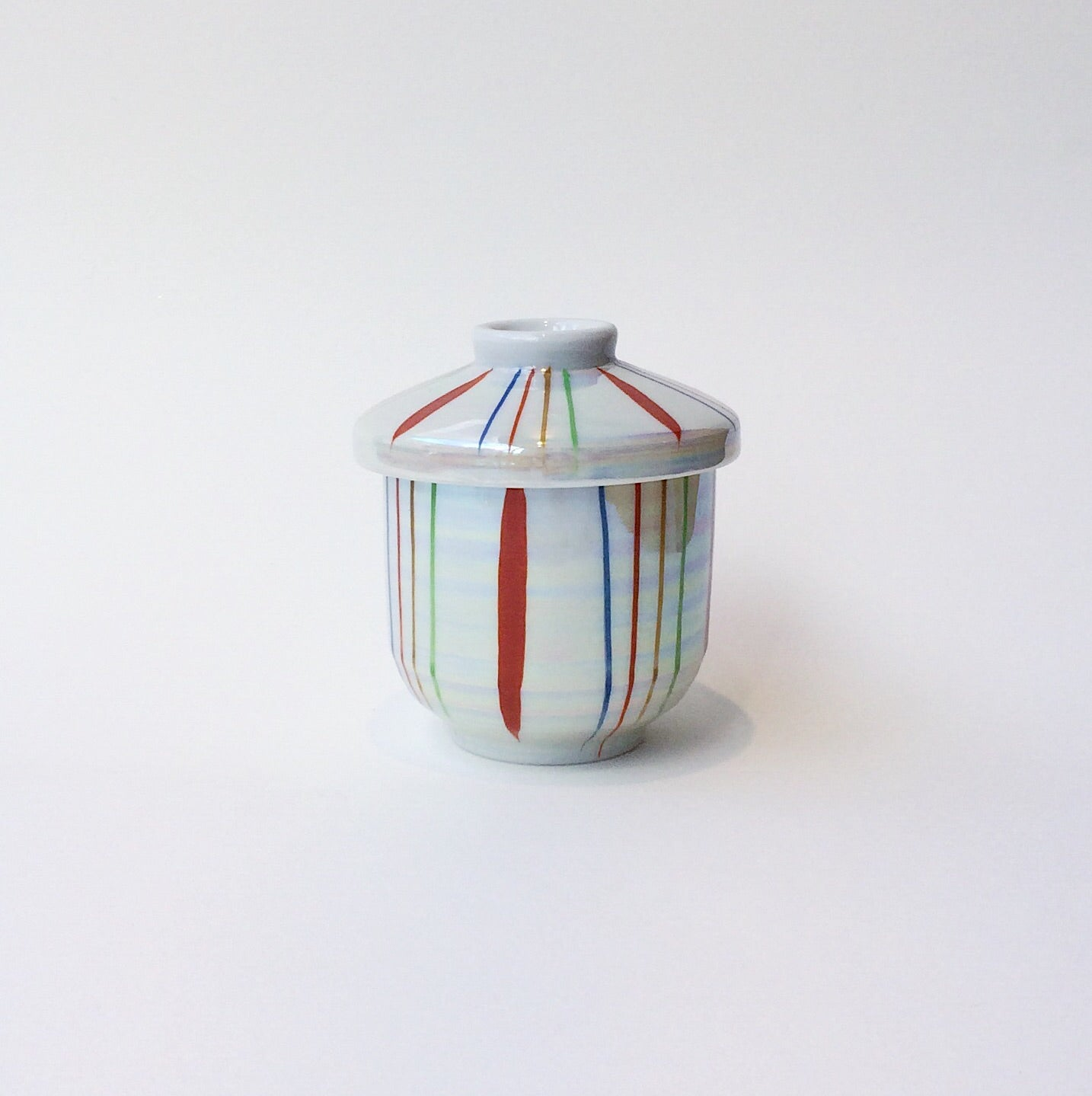 Japan series : Bonbonniere with coloured stripes