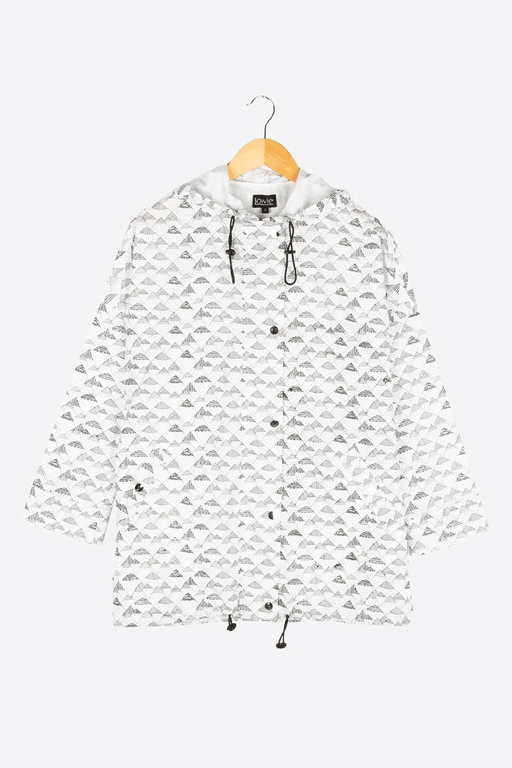 Mountain Print Eco Raincoat