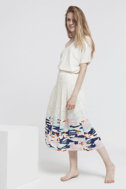 Adela Organic Cotton Skirt in Ibiza Print