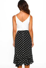 Monochrome Midi Dress- Back View
