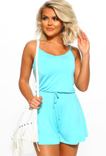 Blue Cami Playsuit - Front View