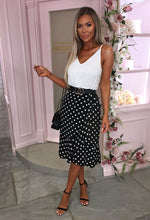Abbey Road Monochrome Polka Dot Frill Hem Midi Dress