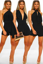 Wow Factor Black Slinky Multi Way Playsuit
