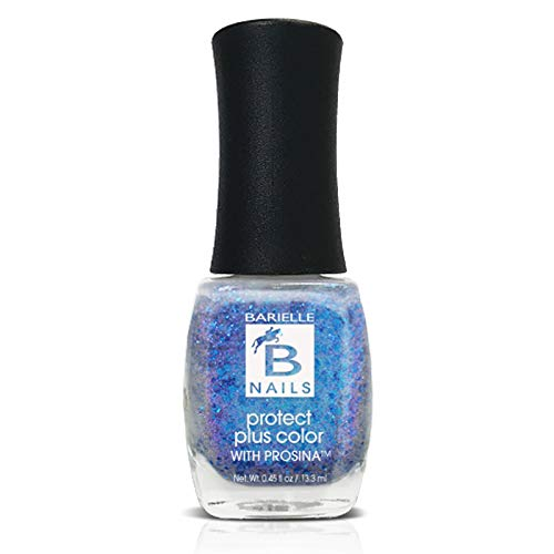 Protect+ Nail Color w/ Prosina - Shooting Star (A Metalic Blue/Purple Glitter) - Barielle - America's Original Nail Treatment Brand