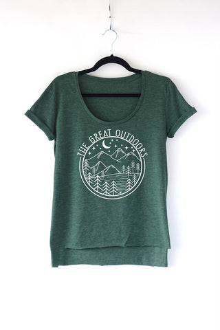 Great Outdoors Ladies Scoop Neck Tee