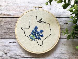 Mini Texas State Bluebonnet Hoop