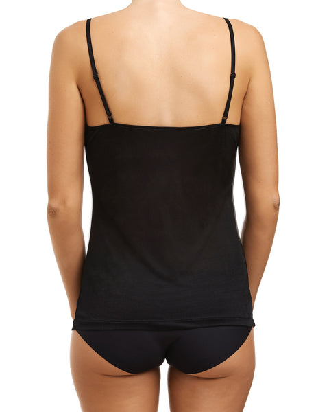 Love&Lustre - Silk Jersey Lace Camisole - Black