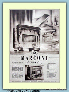Marconi Radiogram Original Advert 1937 (ref AD9204)