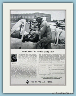 The Royal Air Force Original Advert 1955 (ref AD6277)