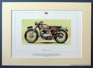 Matchless G12 Mounted Motorcycle Print (ref PR3044)