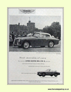 Aston Martin DB2-4 MK II 1955 Original Advert (ref AD6708)