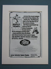 Load image into Gallery viewer, The Muppet Movie 1979 Set of 2 Original adverts (ref AD695)