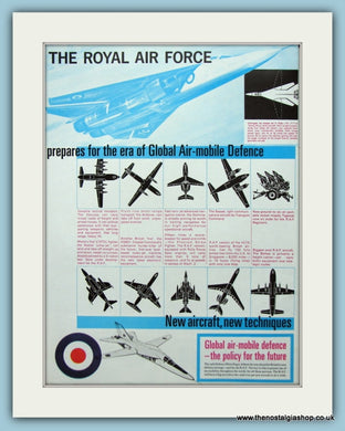 R.A.F Global Air - Mobile Defence Original Advert 1966 (ref AD6286)