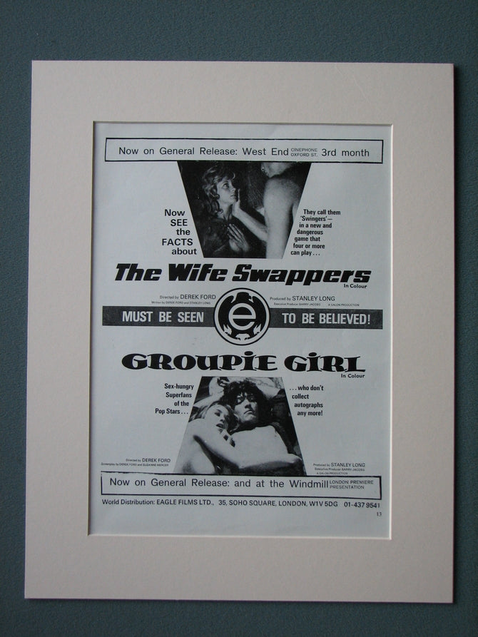 The Wife Swappers/Groupie Girl Double Advert 1970 (refAD519)