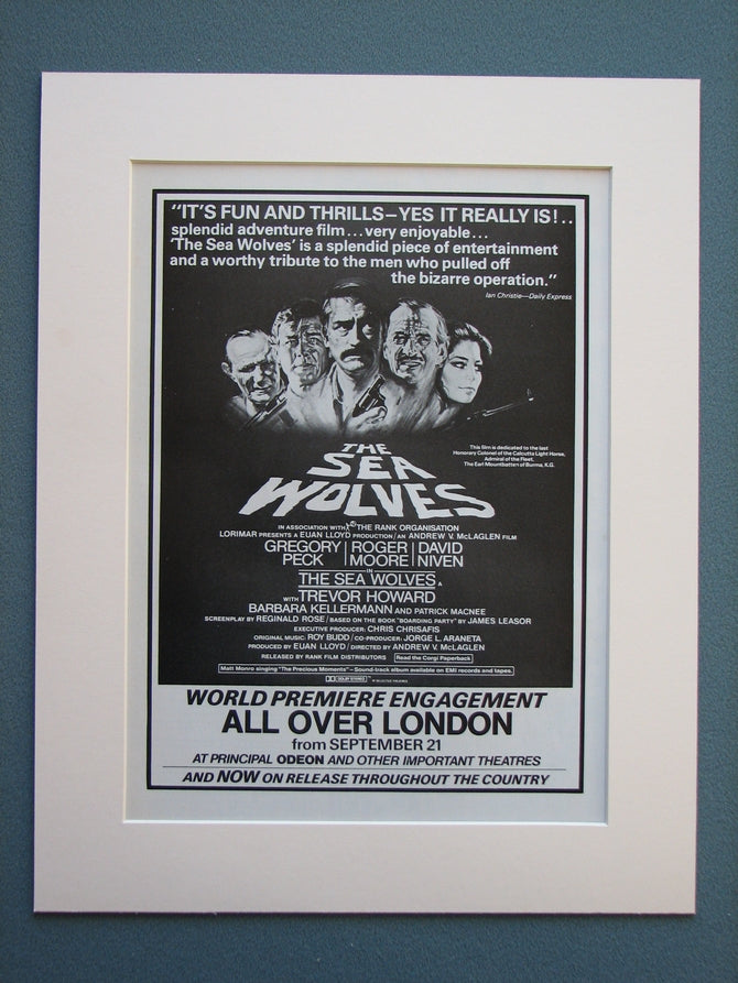 The Sea Wolves 1980 Original advert (ref AD725)