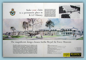 Royal Air Force Design Of Museum Wimpey Builders Double Original Advert 1969 (ref AD6304)