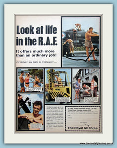 Life In The R.A.F Original Advert 1966 (ref AD6282)