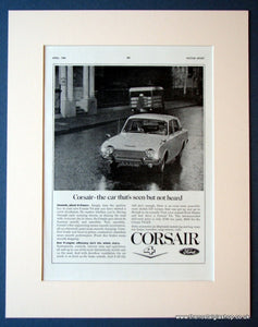 Ford Corsair V4 Original advert 1966 (ref AD1127)