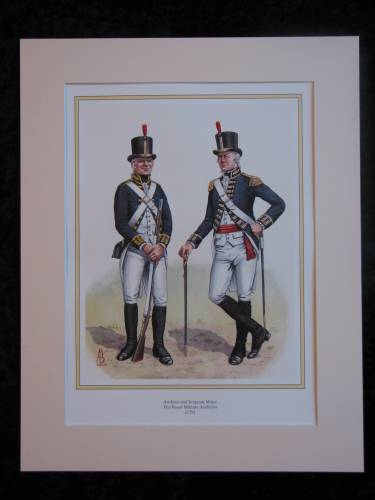 The Royal Military Artificers c1792  Mounted print (ref PR410)