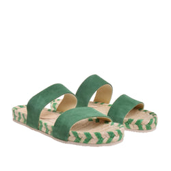 Dean Two Band Flat Espadrille - Green - DNAFOOTWEAR