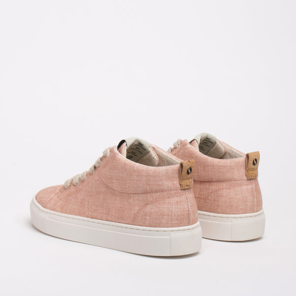 Laurel Sustainable Hi-top Sneaker - Peach