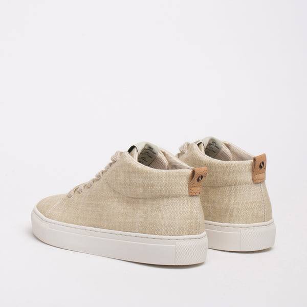 Laurel Sustainable Hi-top Sneaker - Sand