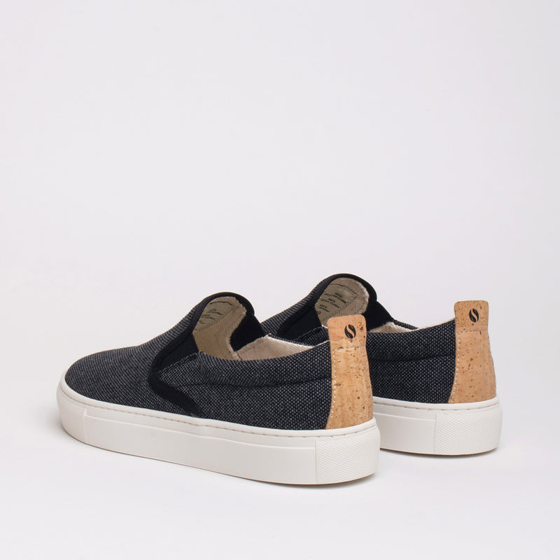 Olive Sustainable Slip-on Sneaker - Coal