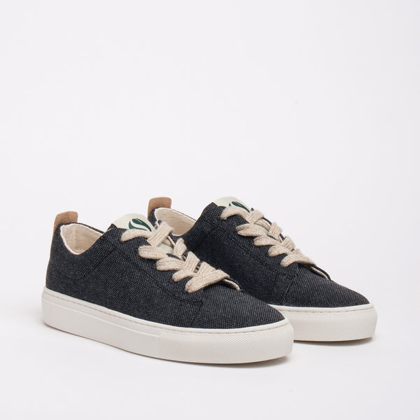 Willow Sustainable Lace Sneaker - Coal