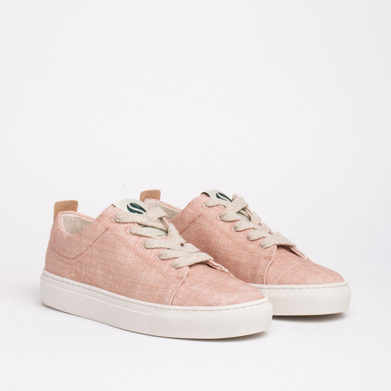 Willow Sustainable Lace Sneaker - Peach