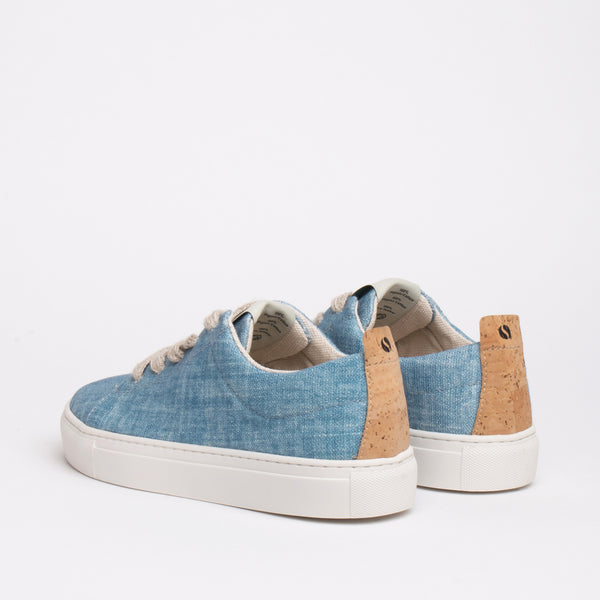 Willow Sustainable Lace Sneaker - Sky