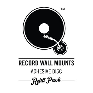 Adhesive Disc Refill Pack - Q Record Wall Mounts
