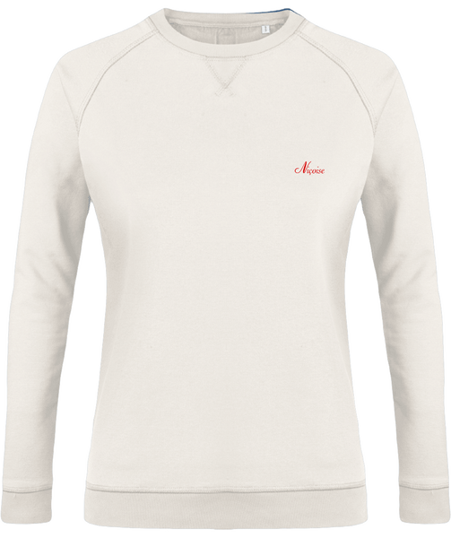 "Sweat simple ♀, brodé ""Niçoise"""